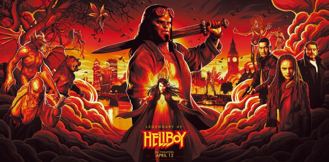 hellboy 2019 panoramic movie poster