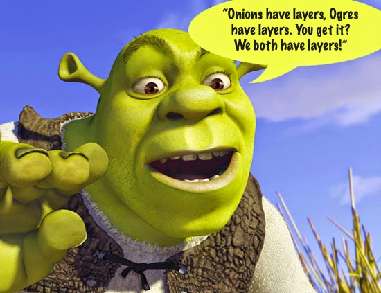 onions have layers, ogres have layers.