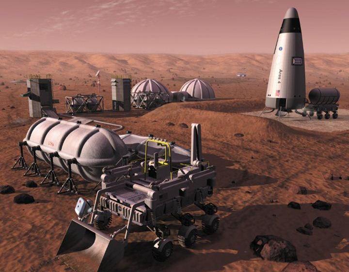 mars outpost concept art