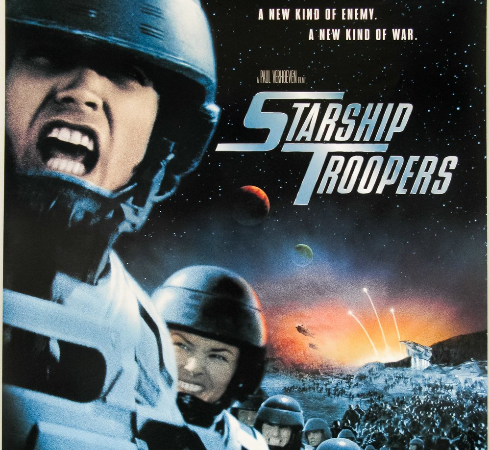 cropped movie cover of starship troopers